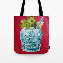 Tiki Drink Tropical Cocktail / Oil Painting Tote Bag
