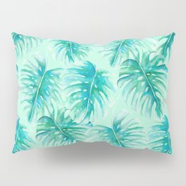 Paradise Palms Mint Pillow Sham