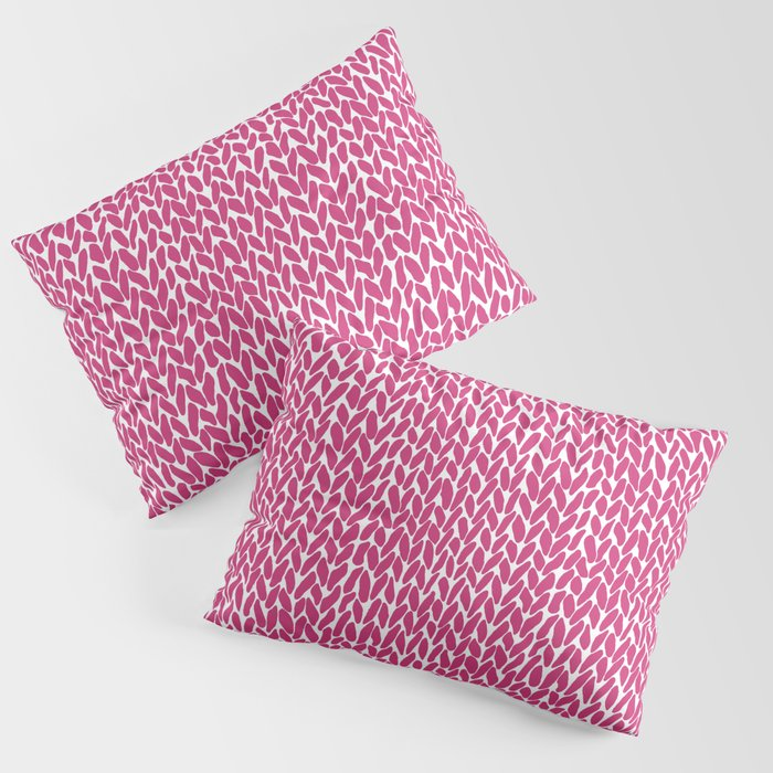 Hand Knit Hot Pink Kissenbezug