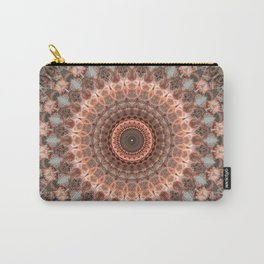 Detailed mandala in brown and peach tones Carry-All Pouch