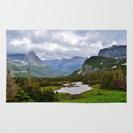 Glacier National Park Going to the Sun Road Rug