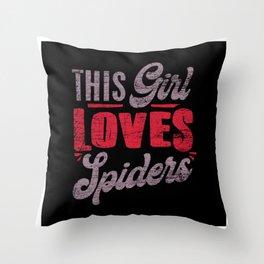 Spider Girl Throw Pillow