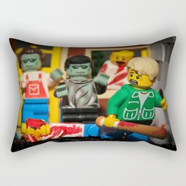 Night of the Lego Dead Rectangular Pillow