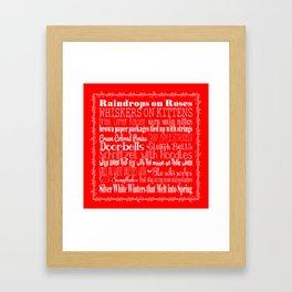 My Favorite Things - Red Framed Art Print