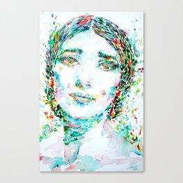 MARIA CALLAS -watercolor portrait Canvas Print