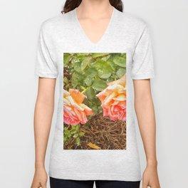 Floral Print 039 Unisex V-Neck