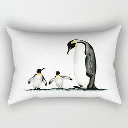 Three Penguins Rectangular Pillow