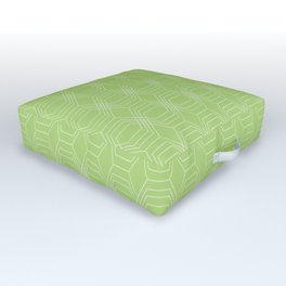 hopscotch-hex bright green Outdoor Floor Cushion