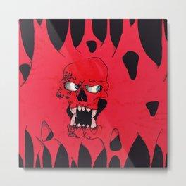 Blood Skull Metal Print