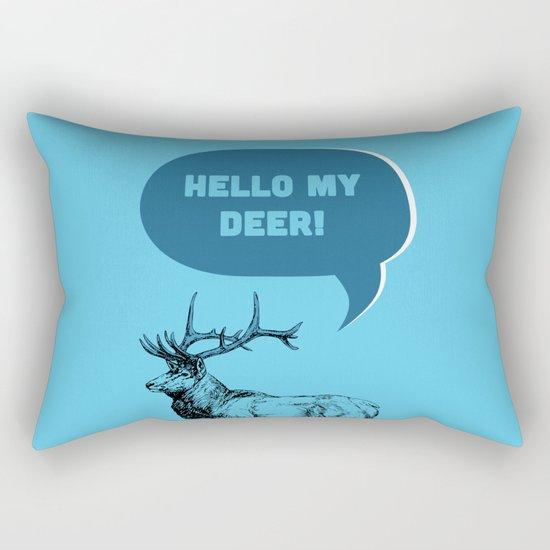 Hello My Deer! Rectangular Pillow