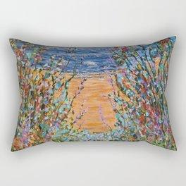Beach Flowers 3, landscape art Rectangular Pillow