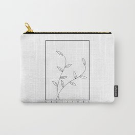 Gratitude slogan quote with flower on retangle Carry-All Pouch