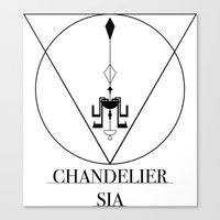 sia Canvas Prints featuring Chandelier Sia  by Sebastian A