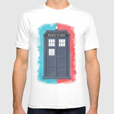 10th Doctor - DOCTOR WHO MEDIUM Mens Fitted Tee White
