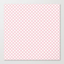 Large White Spots On Millennial Pink Pastel Canvas Print