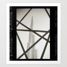 Film Photography: Burj Khalifa Dubai Art Print