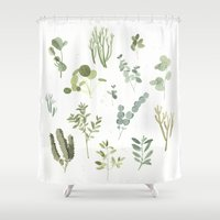plants Shower Curtains featuring Plants  by Maggie Chiang