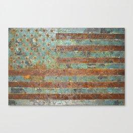 Native America, Turquoise Flag Canvas Print