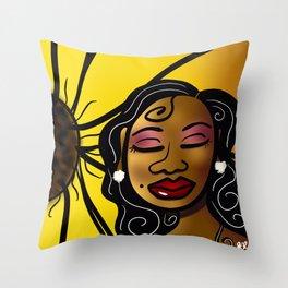 Sista Sunflower Throw Pillow