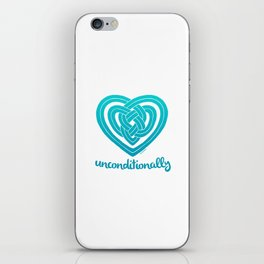 UNCONDITIONALLY in teal iPhone Skin