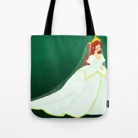 ariel Tote Bags featuring Ariel by Delucienne Maekerr