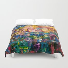 Abstract - Colorful World by Lena Owens Duvet Cover