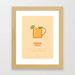 Moscow Mule Cocktail Recipe Art Print Framed Art Print