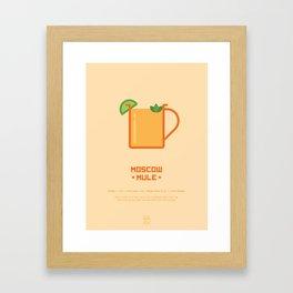 Moscow Mule Cocktail Recipe Art Print Framed Art Print