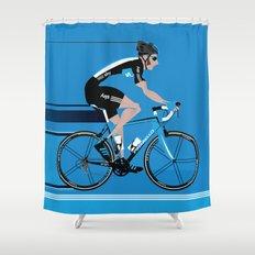 Bradley Wiggins Team Sky Shower Curtain