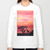 africa Long Sleeve T-shirts featuring Africa by Monica Georg-Buller