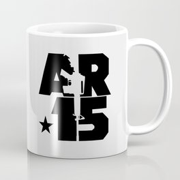 AR-15 (Silver/Black) Coffee Mug