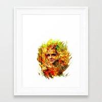 emma watson Framed Art Prints featuring Emma Watson by ururuty