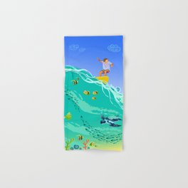 Surfing Hand & Bath Towel
