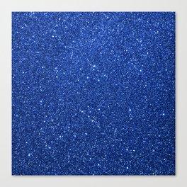 Cobalt Blue Glitter Canvas Print