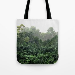 Tropical Foggy Forest Tote Bag