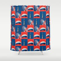 divergent Shower Curtains featuring Chicago by Arts and Herbs
