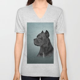 Drawing dog Cane Corso - Italian Mastiff Unisex V-Neck
