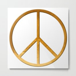 PEACE  Symbol - 60th Birthday 21 Feb. 2018 Metal Print