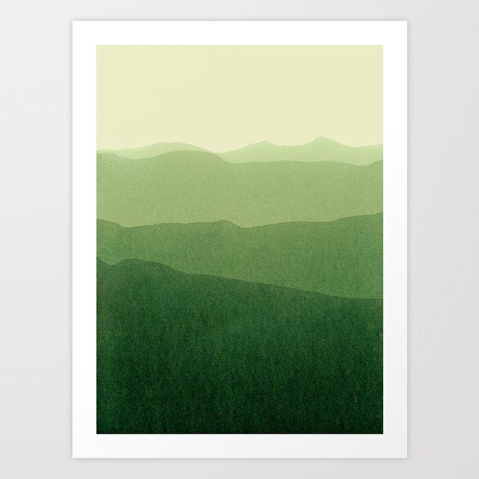 gradient landscape green Kunstdrucke