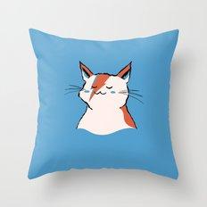 A Cat Insane Throw Pillow