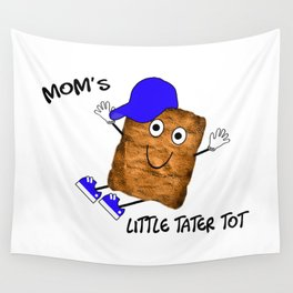 Mom's Little Tater Tot Boy Wall Tapestry
