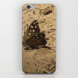 Brown Butterfly iPhone Skin