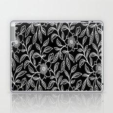 Vintage Lace Floral Black Laptop & iPad Skin