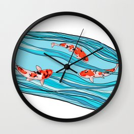 KOI KOI KOI Wall Clock