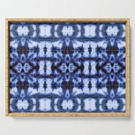 Blue Oxford Shibori Serving Tray