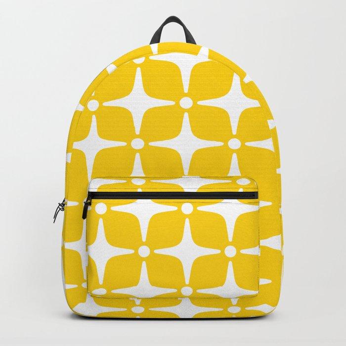 Mid Century Modern Star Pattern Yellow 2 Rucksack
