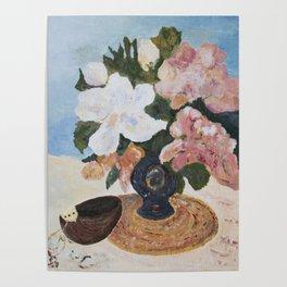 Peonies, Mandolin Painting Poster