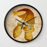 the mortal instruments Wall Clocks featuring Mortal mushroom by Ganech joe
