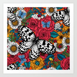 A colorful garden Art Print