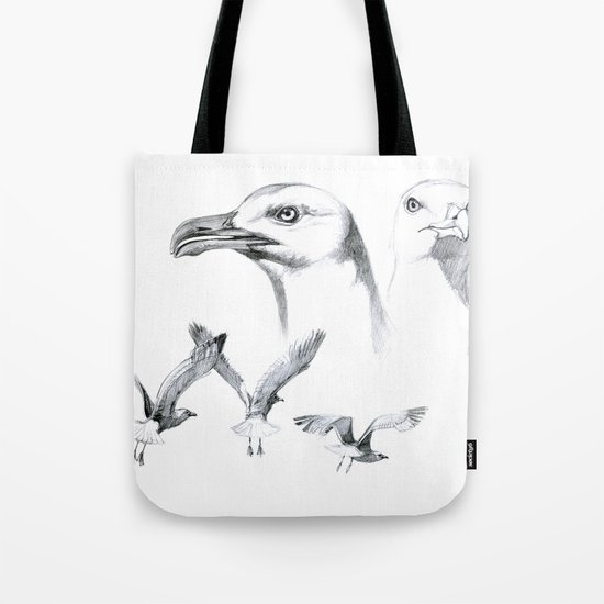 Great Black-backed Gull - Larus marinus   SK043 Tote Bag